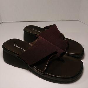 Baretrap dark brown sandals size 8.5